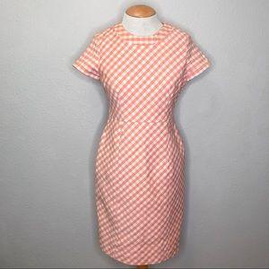 Brooks Brothers NWOT Pink Gingham Career Dress
